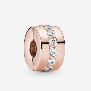 Pandora 14K Rose Gold Plated Clips